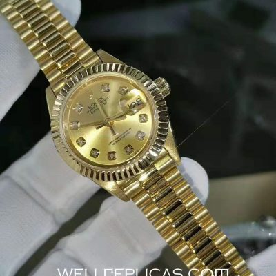 Rolex Datejust Charming Lady Gold Dial 29mm Case Automatic Movement Watch