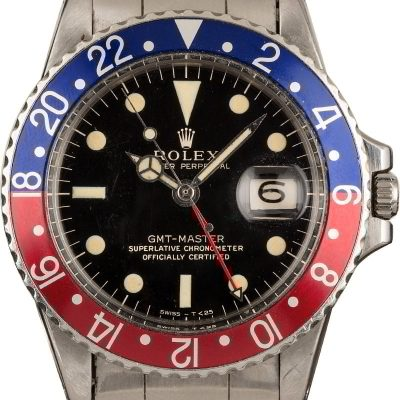 Fake Gold Watches Vintage 1966 Rolex Gmt-master 1675 Pepsi Bezel