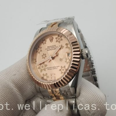 Rolex Datejust 178271 feminino estojo 31 mm Everose Rolesor